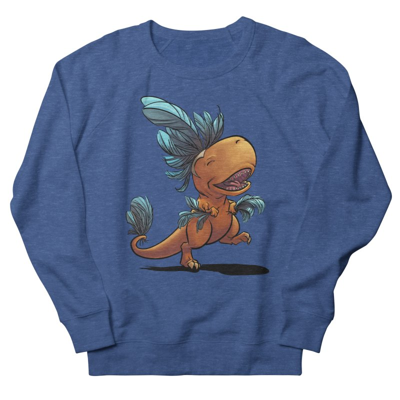 T-rex with feathers! Men's Sweatshirt by weswongwithyou's Artist Shop