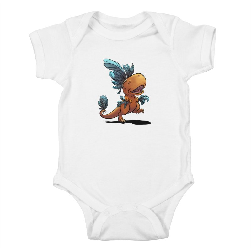 T-rex with feathers! Kids Baby Bodysuit by weswongwithyou's Artist Shop