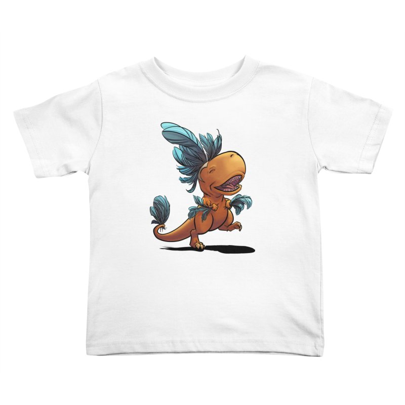T-rex with feathers! Kids Toddler T-Shirt by weswongwithyou's Artist Shop