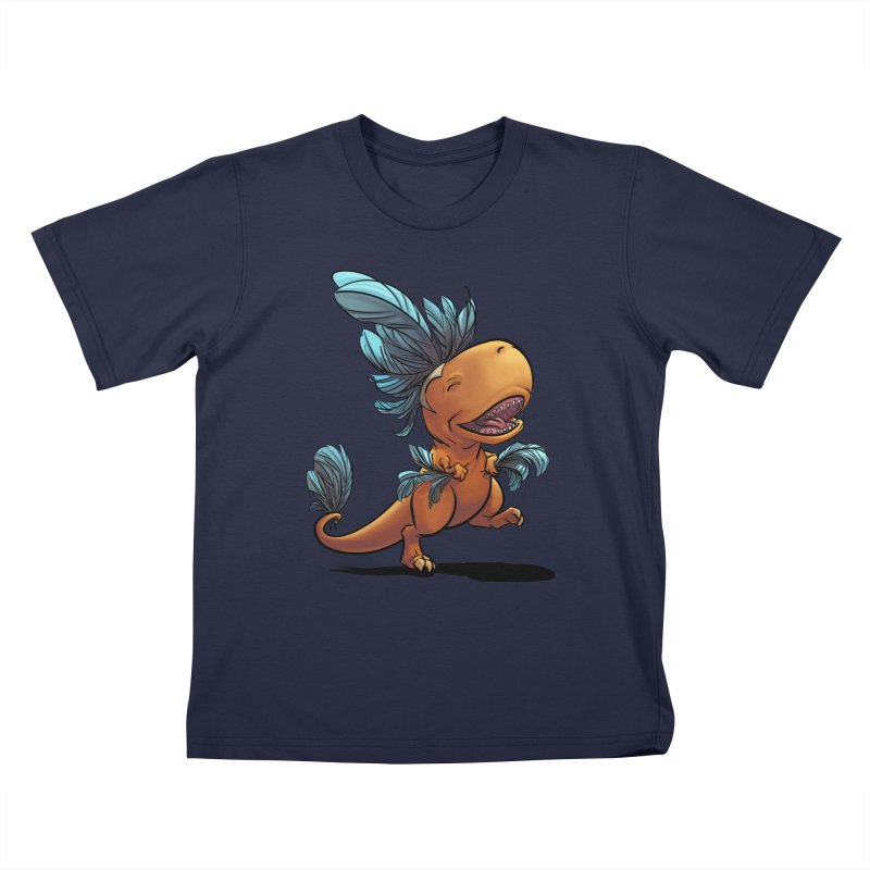 T-rex with feathers! Kids T-Shirt by weswongwithyou's Artist Shop