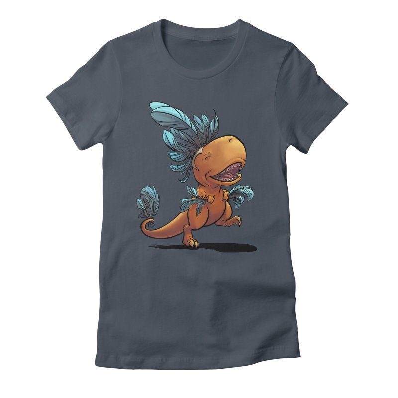 T-rex with feathers! Women's T-Shirt by weswongwithyou's Artist Shop