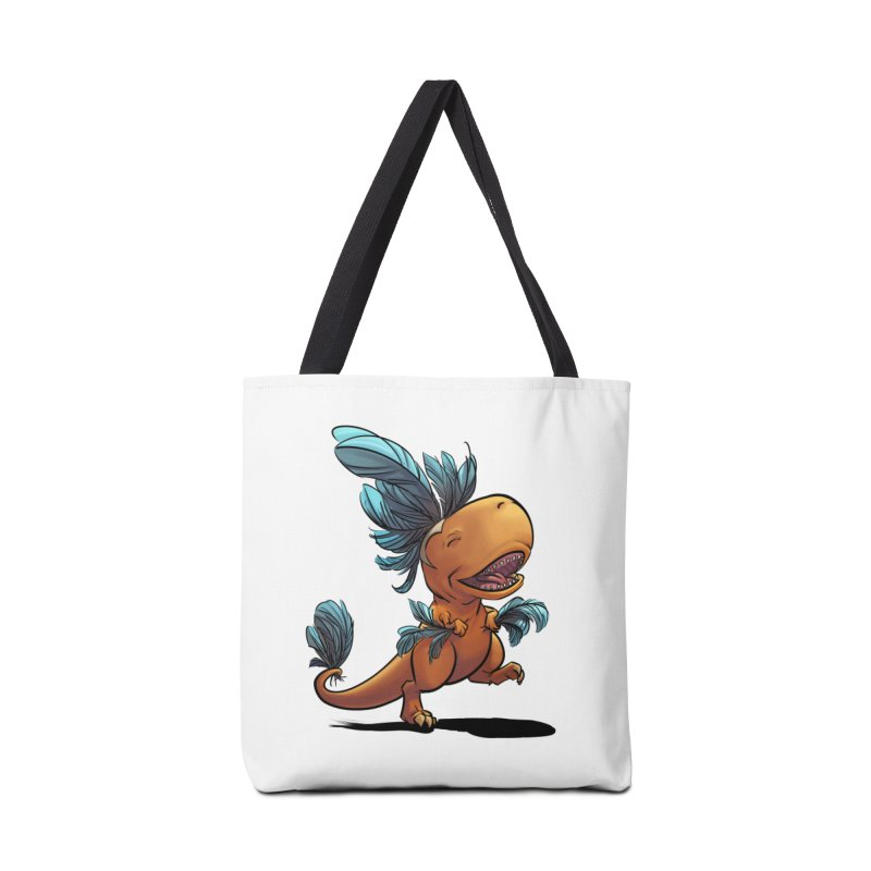 T-rex with feathers! Accessories Tote Bag Bag by weswongwithyou's Artist Shop