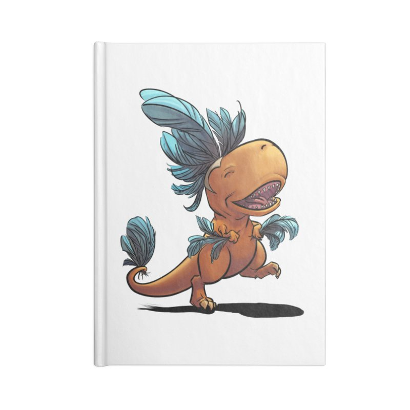 T-rex with feathers! Accessories Notebook by weswongwithyou's Artist Shop