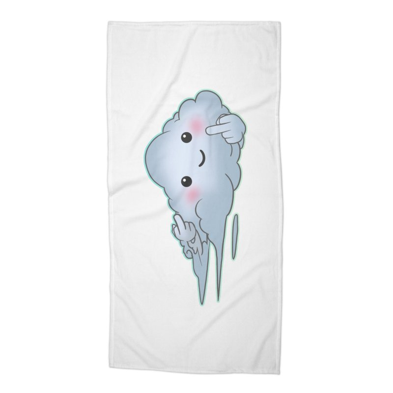 Cloudy Interference Accessories Beach Towel by weswongwithyou's Artist Shop