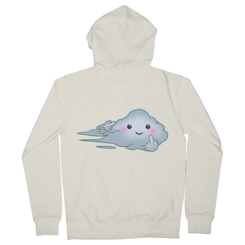 Cloudy Interference Men's Zip-Up Hoody by weswongwithyou's Artist Shop