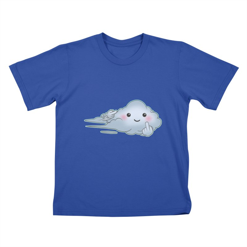 Cloudy Interference Kids T-Shirt by weswongwithyou's Artist Shop