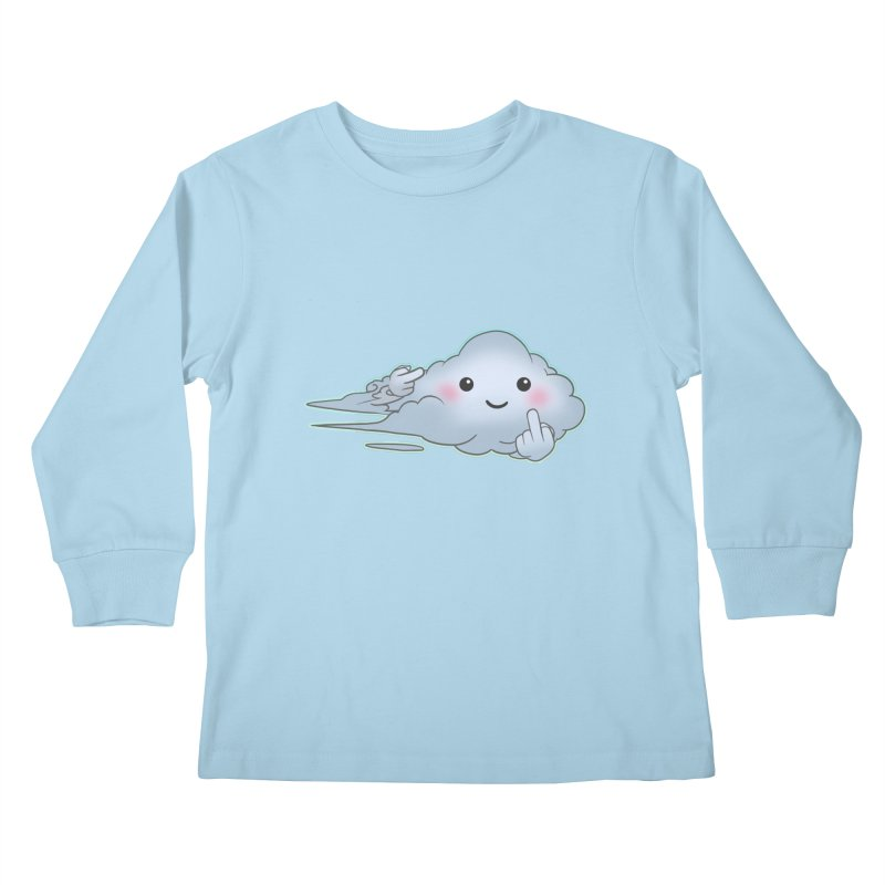 Cloudy Interference Kids Longsleeve T-Shirt by weswongwithyou's Artist Shop