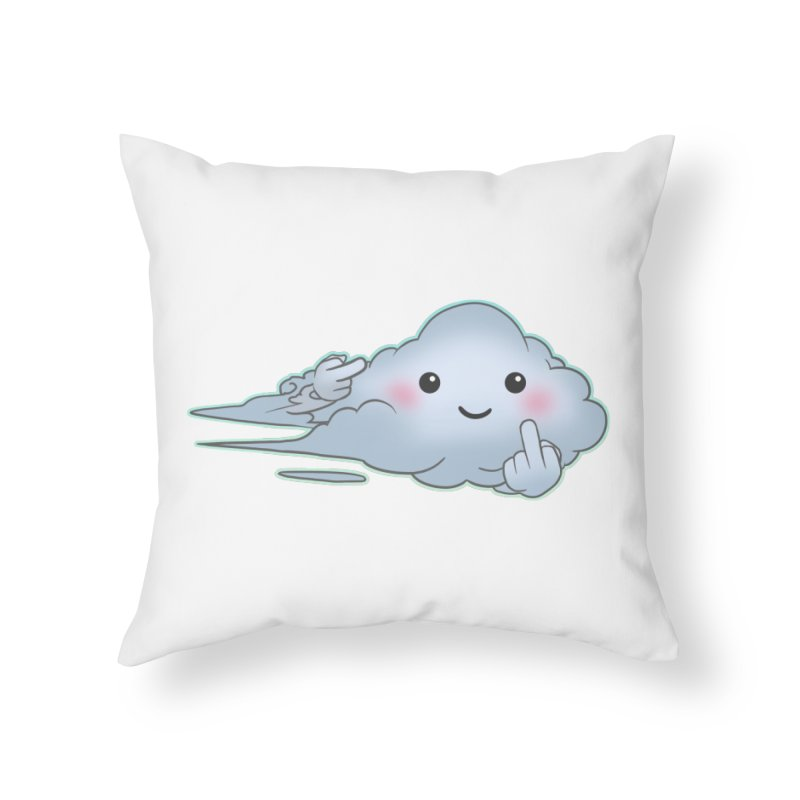 Cloudy Interference Home Throw Pillow by weswongwithyou's Artist Shop
