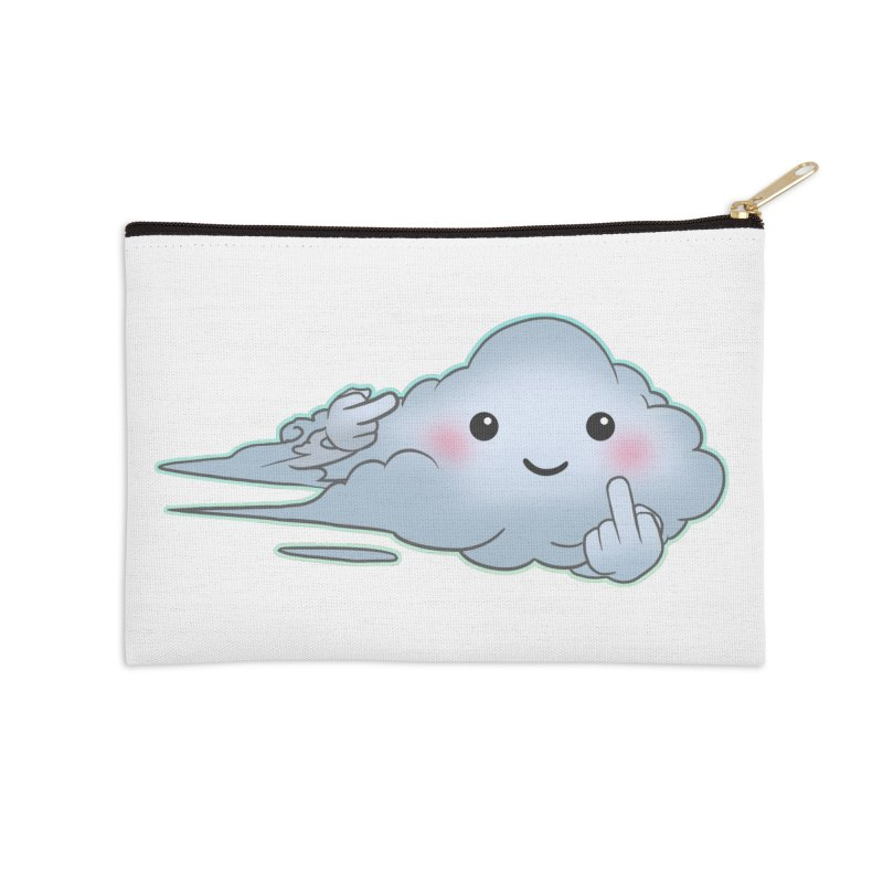 Cloudy Interference Accessories Zip Pouch by weswongwithyou's Artist Shop
