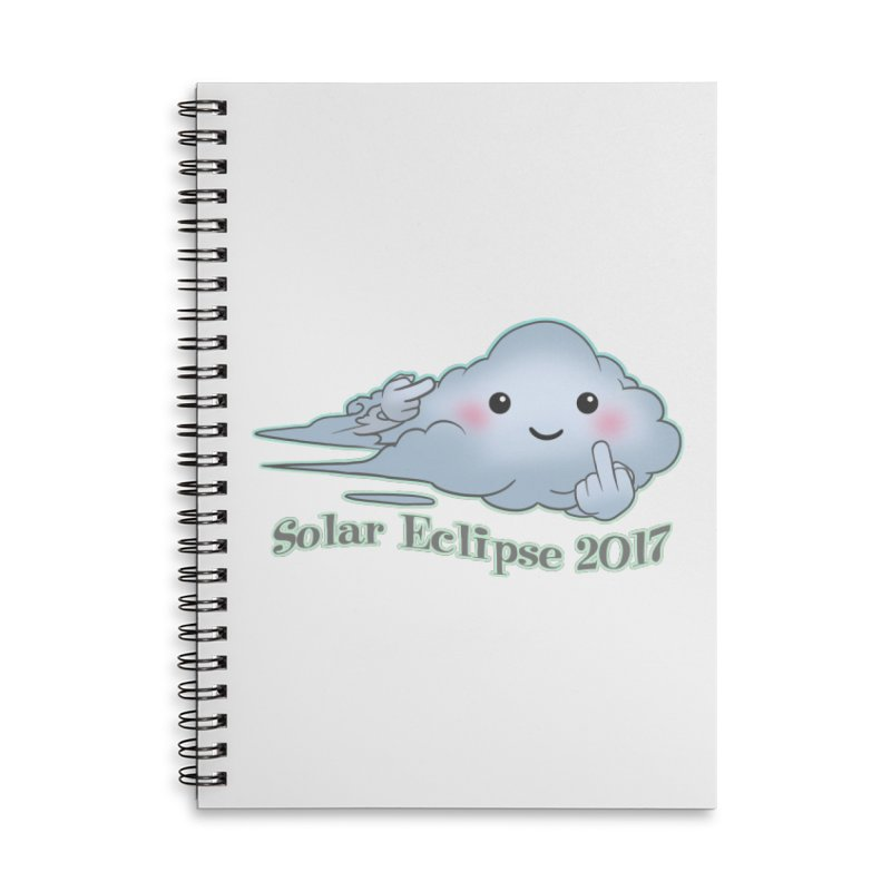 Cloudy Interference - Eclipse variant Accessories Lined Spiral Notebook by weswongwithyou's Artist Shop