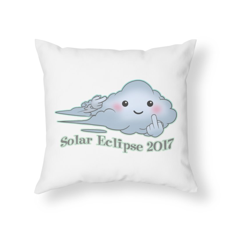 Cloudy Interference - Eclipse variant Home Throw Pillow by weswongwithyou's Artist Shop
