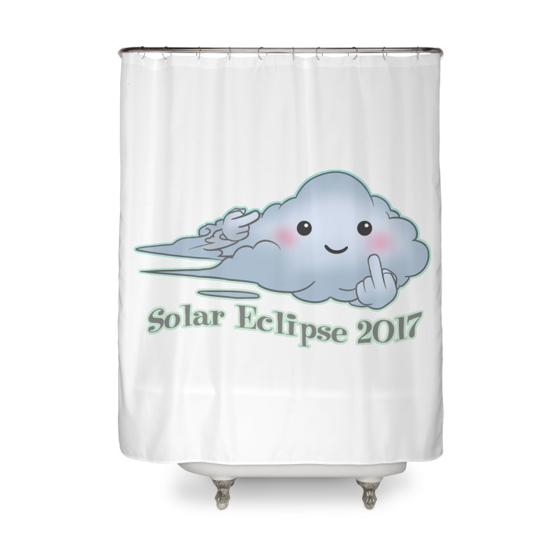 Cloudy Interference - Eclipse variant Home Shower Curtain by weswongwithyou's Artist Shop