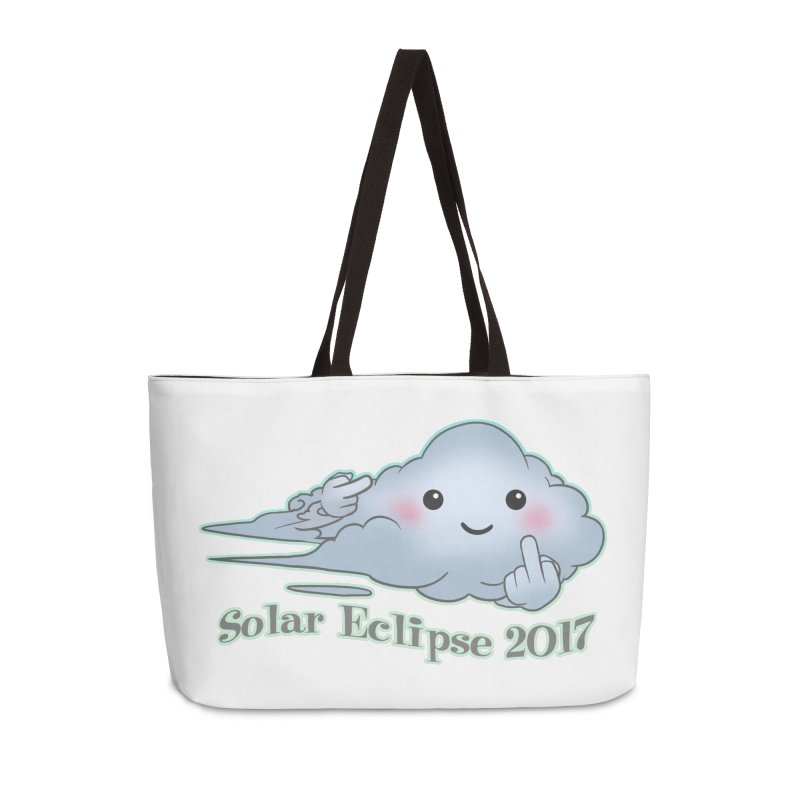 Cloudy Interference - Eclipse variant Accessories Weekender Bag Bag by weswongwithyou's Artist Shop