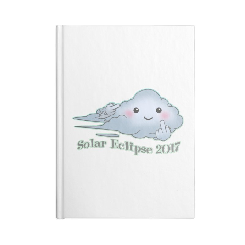 Cloudy Interference - Eclipse variant Accessories Notebook by weswongwithyou's Artist Shop