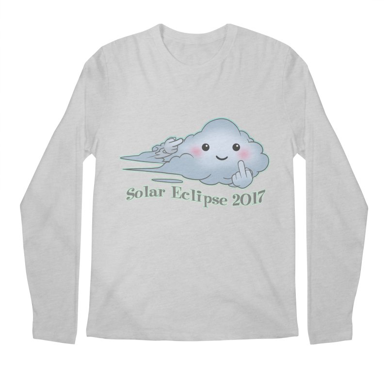Cloudy Interference - Eclipse variant Men's Regular Longsleeve T-Shirt by weswongwithyou's Artist Shop