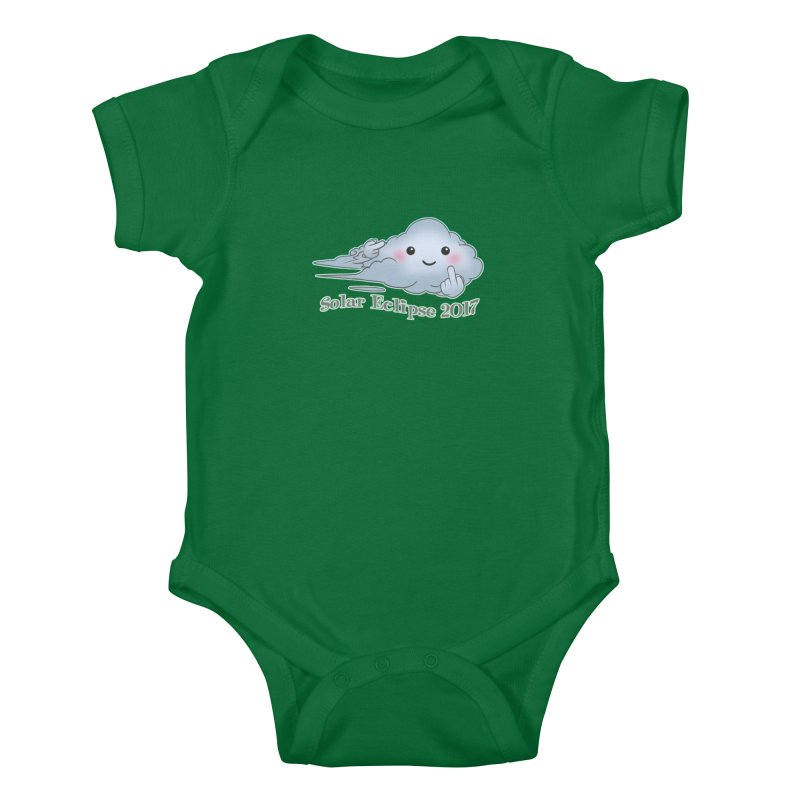 Cloudy Interference - Eclipse variant Kids Baby Bodysuit by weswongwithyou's Artist Shop