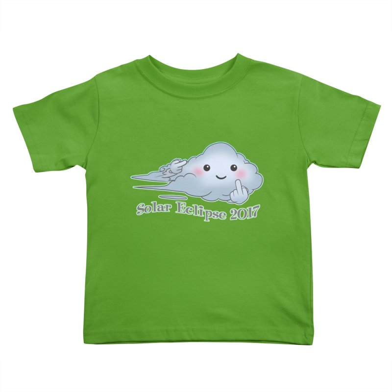 Cloudy Interference - Eclipse variant Kids Toddler T-Shirt by weswongwithyou's Artist Shop