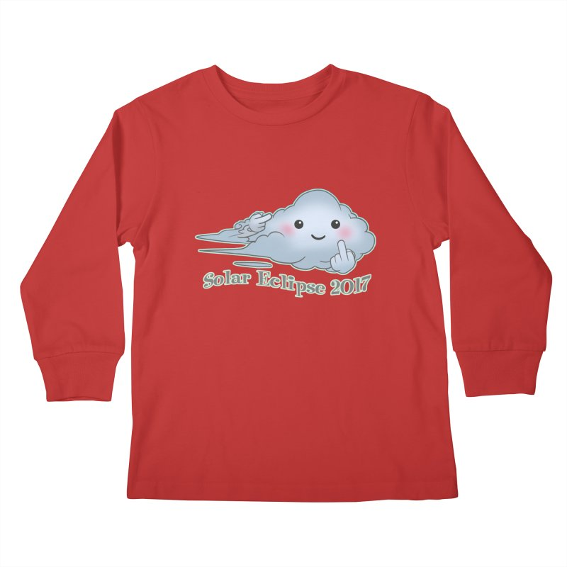 Cloudy Interference - Eclipse variant Kids Longsleeve T-Shirt by weswongwithyou's Artist Shop