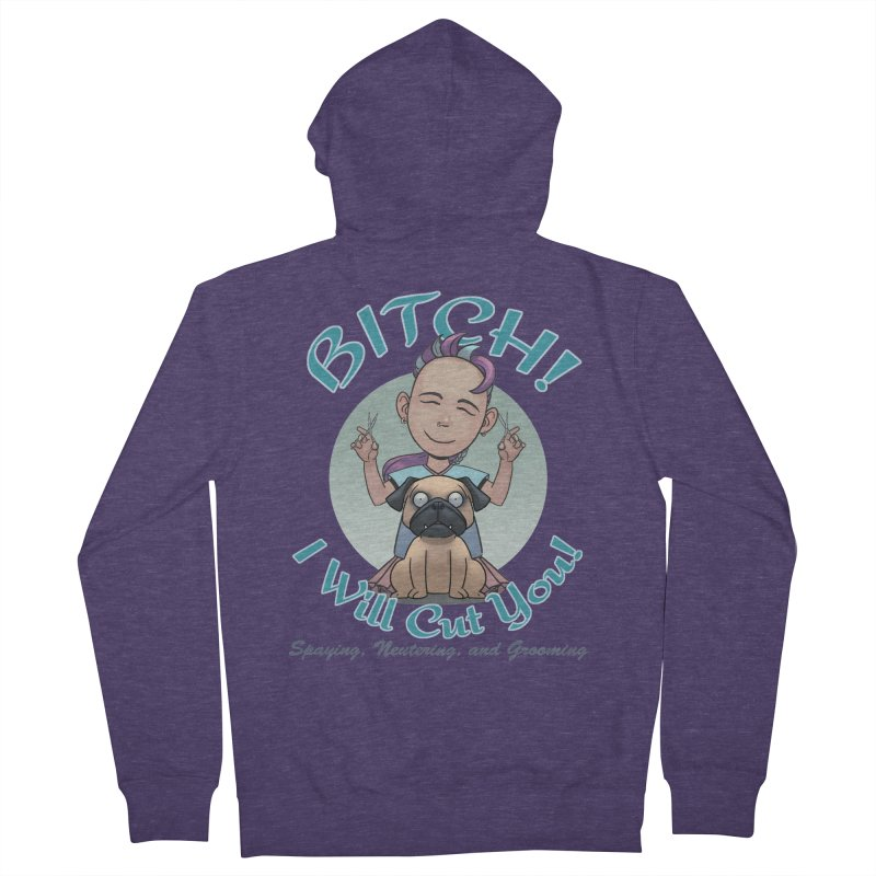 I Will Cut You! Men's Zip-Up Hoody by weswongwithyou's Artist Shop