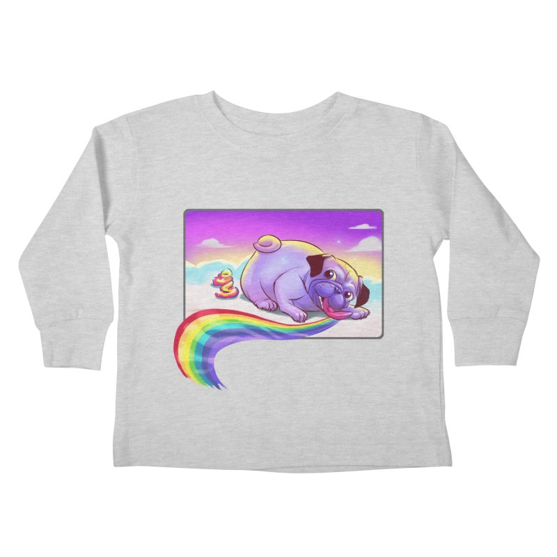 Magical Rainbow Pug Kids Toddler Longsleeve T-Shirt by weswongwithyou's Artist Shop