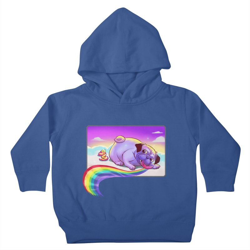 Magical Rainbow Pug Kids Toddler Pullover Hoody by weswongwithyou's Artist Shop