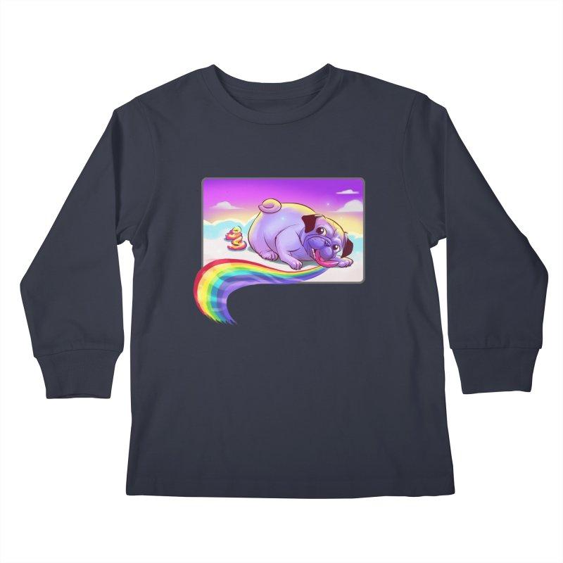 Magical Rainbow Pug Kids Longsleeve T-Shirt by weswongwithyou's Artist Shop