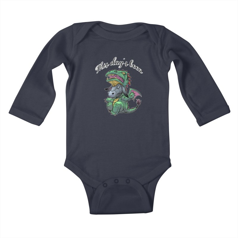 Dragon Ass Kids Baby Longsleeve Bodysuit by weswongwithyou's Artist Shop