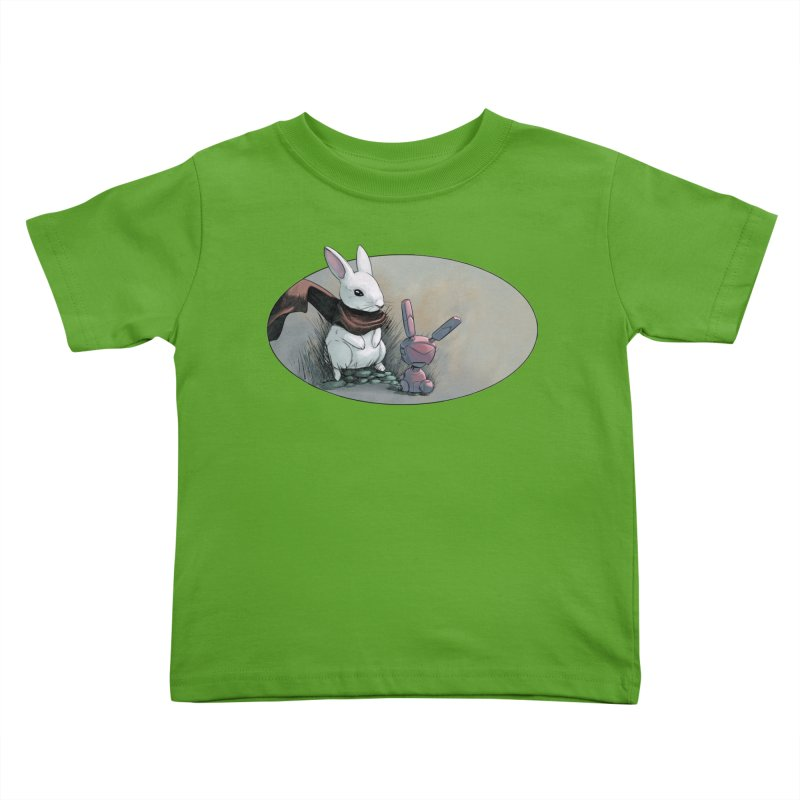 A Curious Encounter Kids Toddler T-Shirt by weswongwithyou's Artist Shop