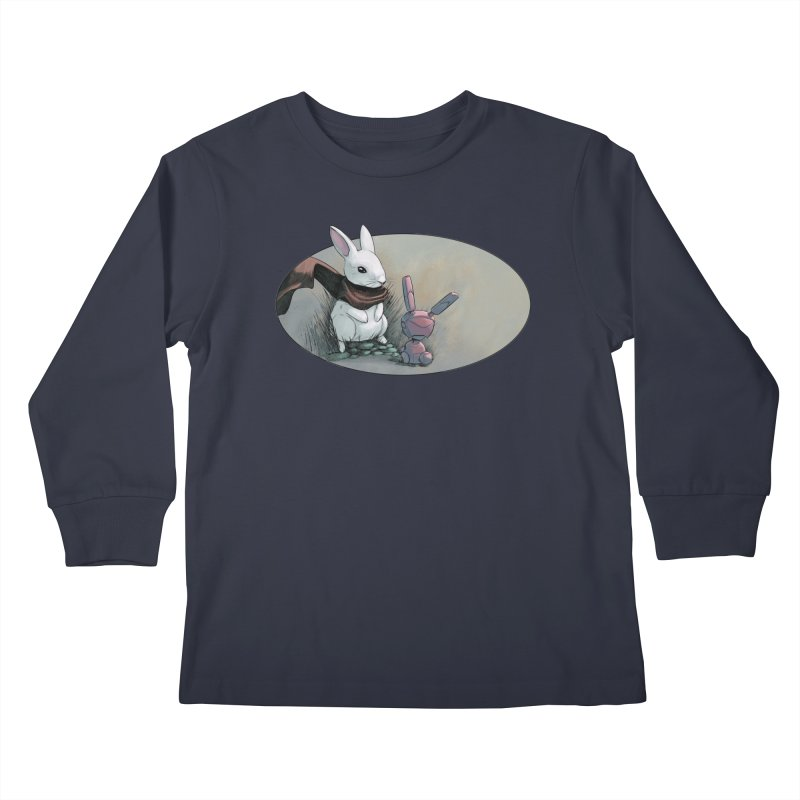 A Curious Encounter Kids Longsleeve T-Shirt by weswongwithyou's Artist Shop