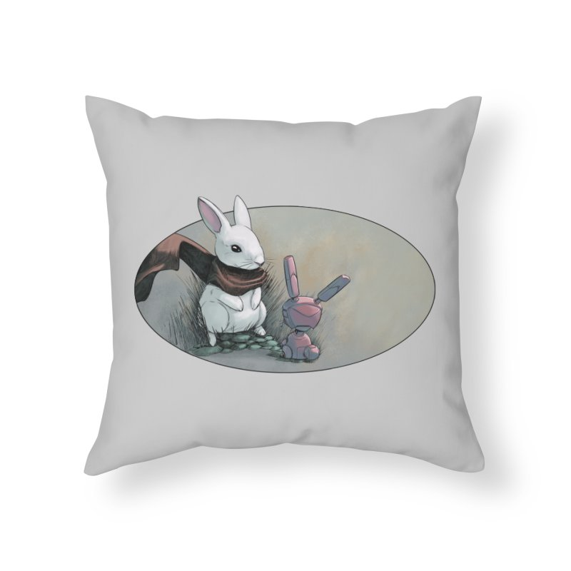 A Curious Encounter Home Throw Pillow by weswongwithyou's Artist Shop