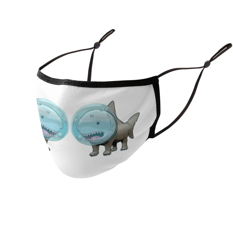 Shark+Pug=Shug Accessories Face Mask by weswongwithyou's Artist Shop