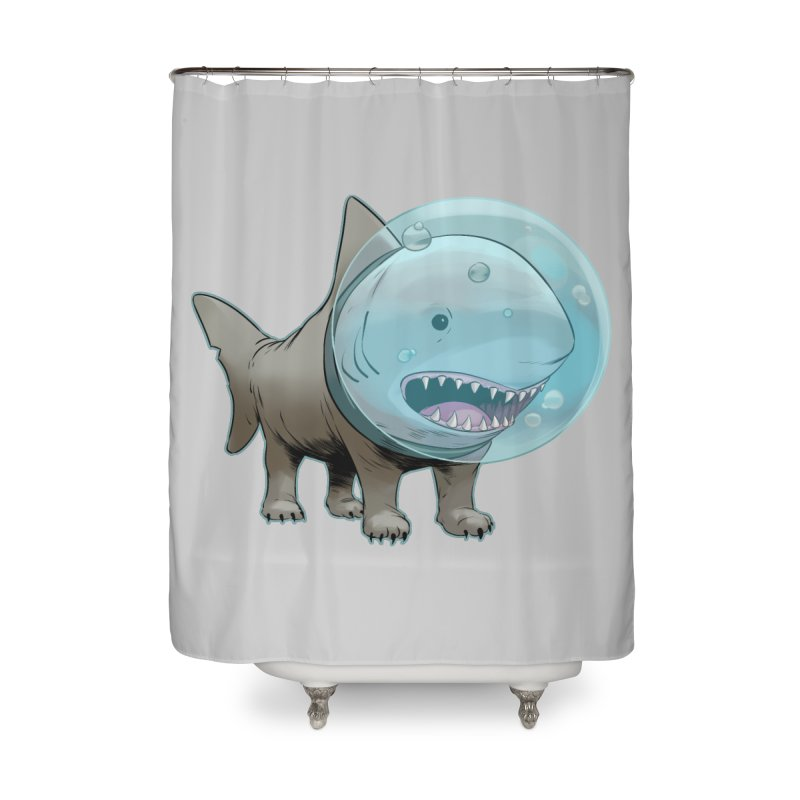 Shark+Pug=Shug Home Shower Curtain by weswongwithyou's Artist Shop