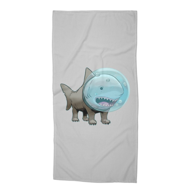 Shark+Pug=Shug Accessories Beach Towel by weswongwithyou's Artist Shop