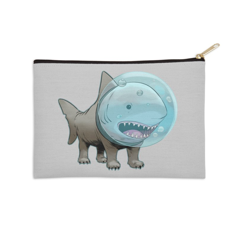 Shark+Pug=Shug Accessories Zip Pouch by weswongwithyou's Artist Shop