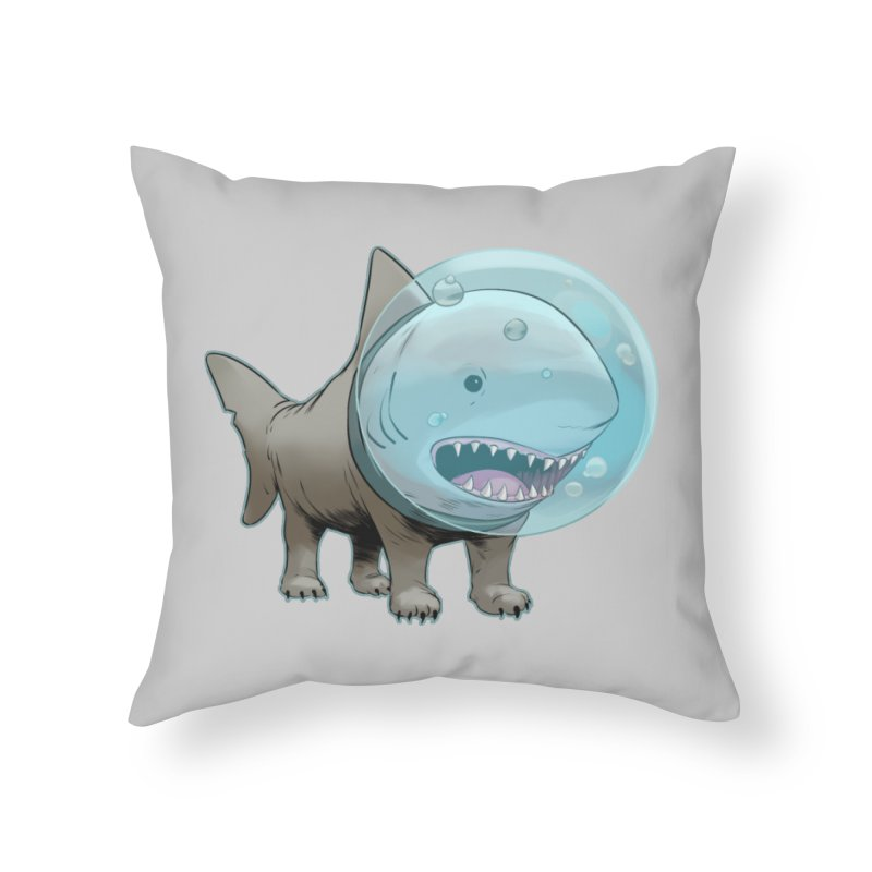 Shark+Pug=Shug Home Throw Pillow by weswongwithyou's Artist Shop