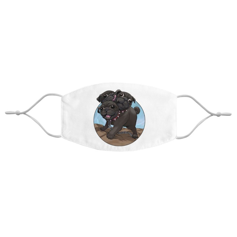 Pug Cerberus Black Version Accessories Face Mask by weswongwithyou's Artist Shop