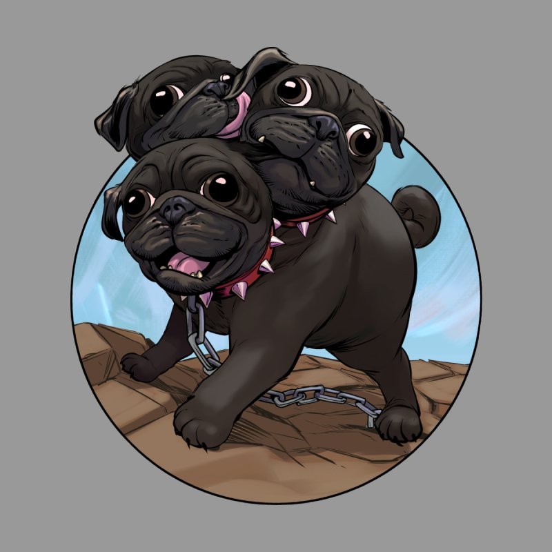 Pug Cerberus Black Version Kids Toddler T-Shirt by weswongwithyou's Artist Shop