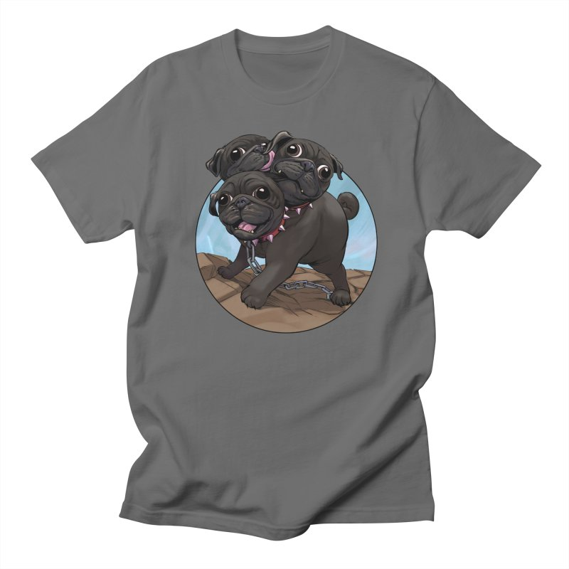 Pug Cerberus Black Version Men's T-Shirt by weswongwithyou's Artist Shop
