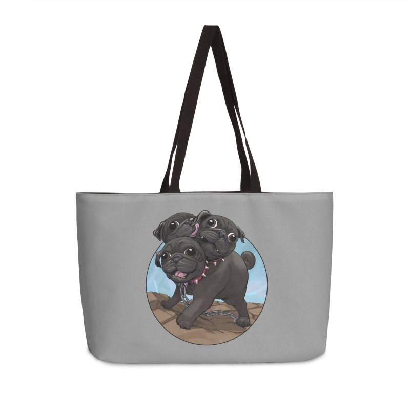 Pug Cerberus Black Version Accessories Bag by weswongwithyou's Artist Shop