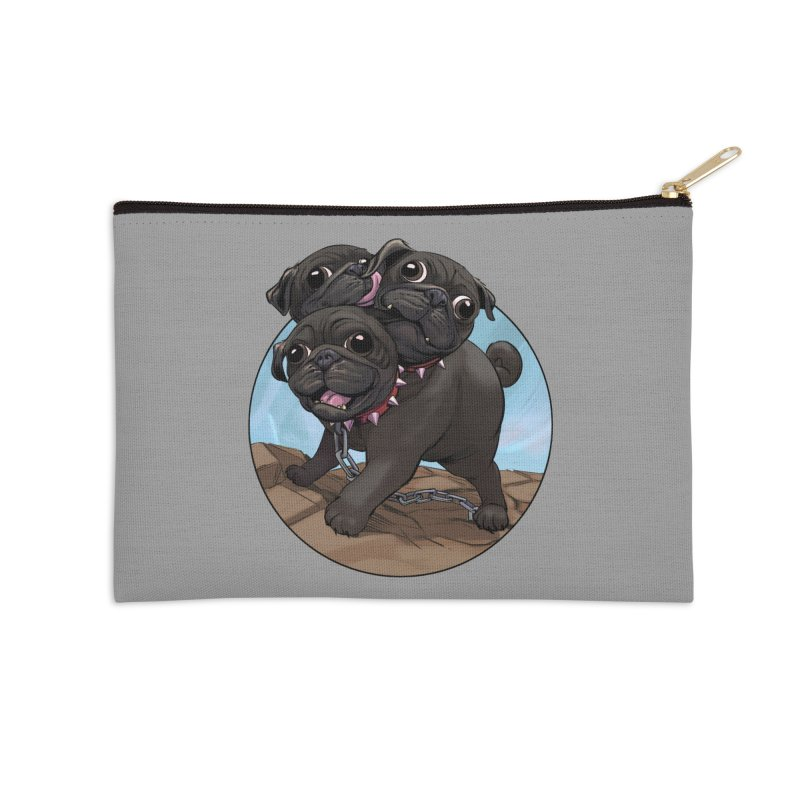 Pug Cerberus Black Version Accessories Zip Pouch by weswongwithyou's Artist Shop