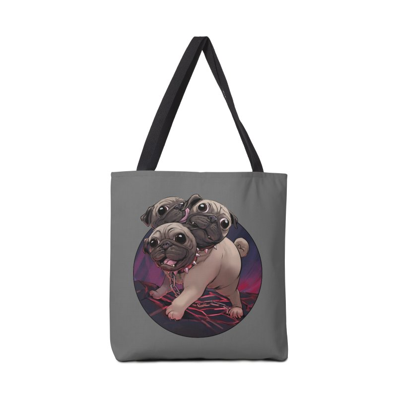 Pug Cerberus Fawn Version Accessories Bag by weswongwithyou's Artist Shop
