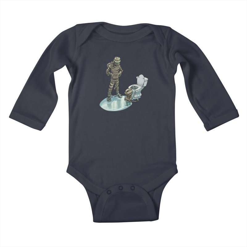 Mummy's work is never done Kids Baby Longsleeve Bodysuit by weswongwithyou's Artist Shop