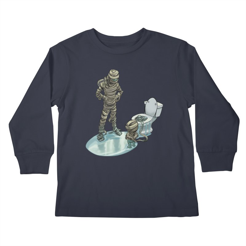 Mummy's work is never done Kids Longsleeve T-Shirt by weswongwithyou's Artist Shop