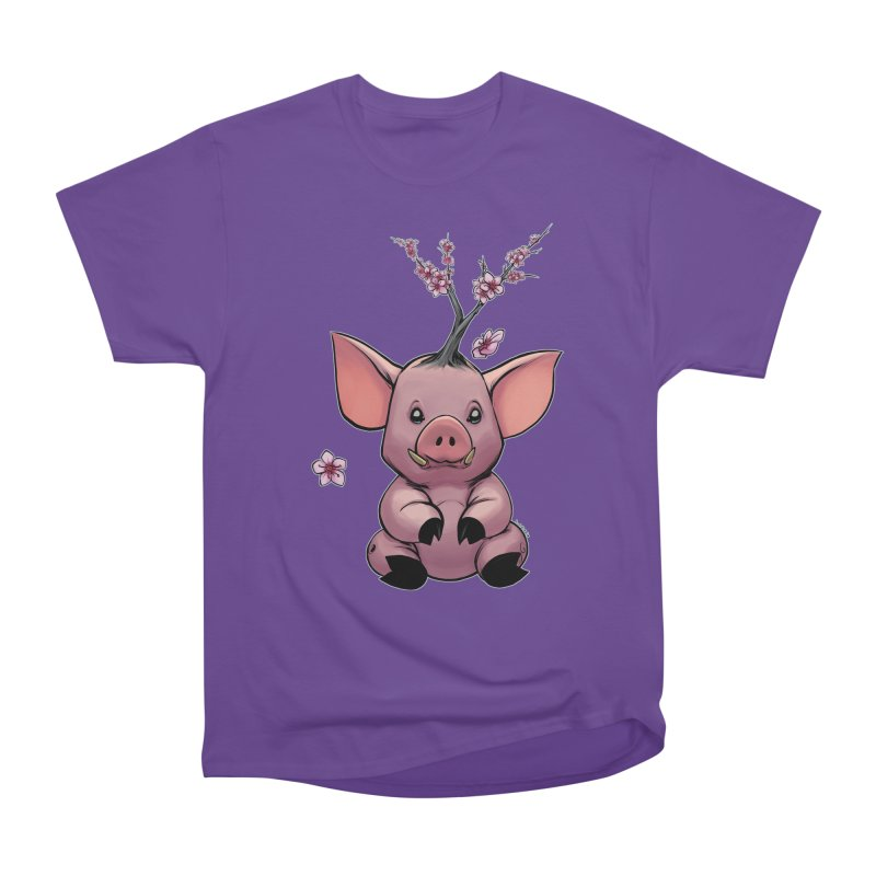 Lunar New Year 2019 Earth Pig Women's Heavyweight Unisex T-Shirt by weswongwithyou's Artist Shop