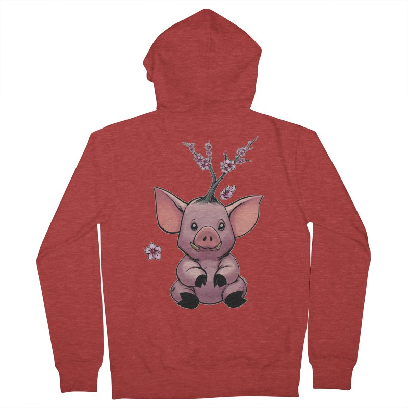 Lunar New Year 2019 Earth Pig Women's French Terry Zip-Up Hoody by weswongwithyou's Artist Shop