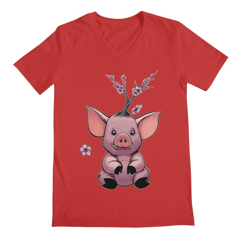 Lunar New Year 2019 Earth Pig Men's Regular V-Neck by weswongwithyou's Artist Shop