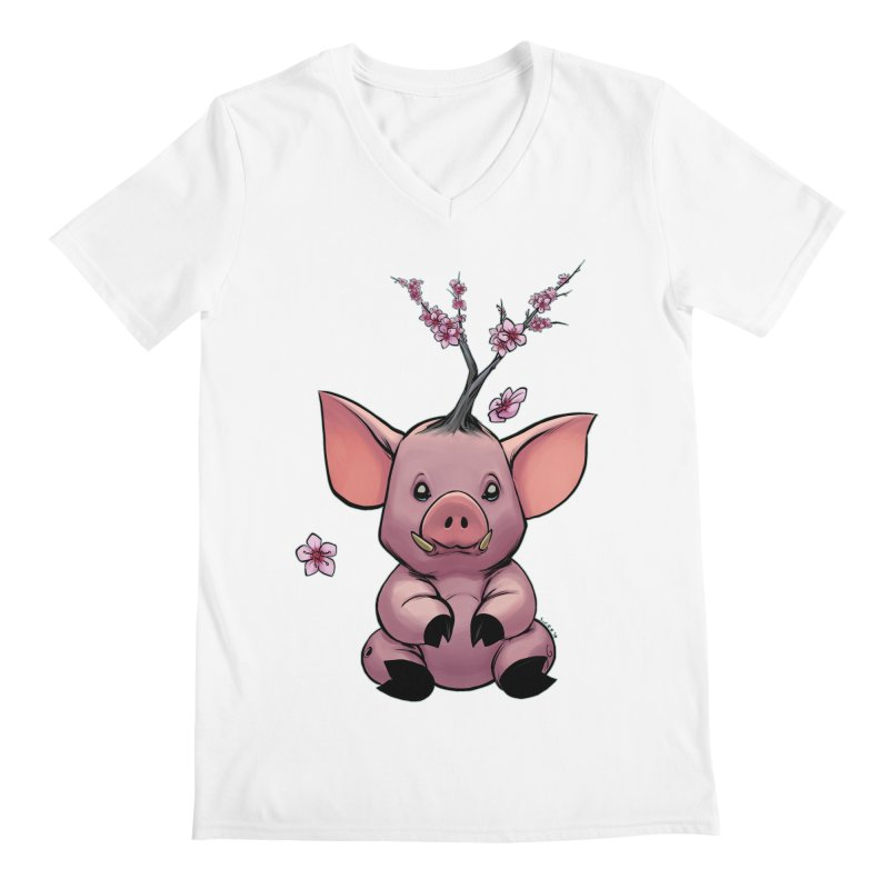 Lunar New Year 2019 Earth Pig Men's V-Neck by weswongwithyou's Artist Shop