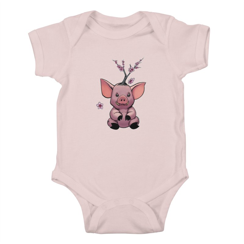 Lunar New Year 2019 Earth Pig Kids Baby Bodysuit by weswongwithyou's Artist Shop