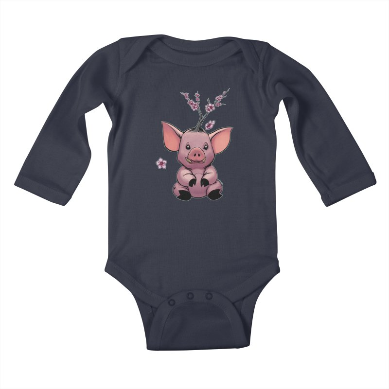 Lunar New Year 2019 Earth Pig Kids Baby Longsleeve Bodysuit by weswongwithyou's Artist Shop