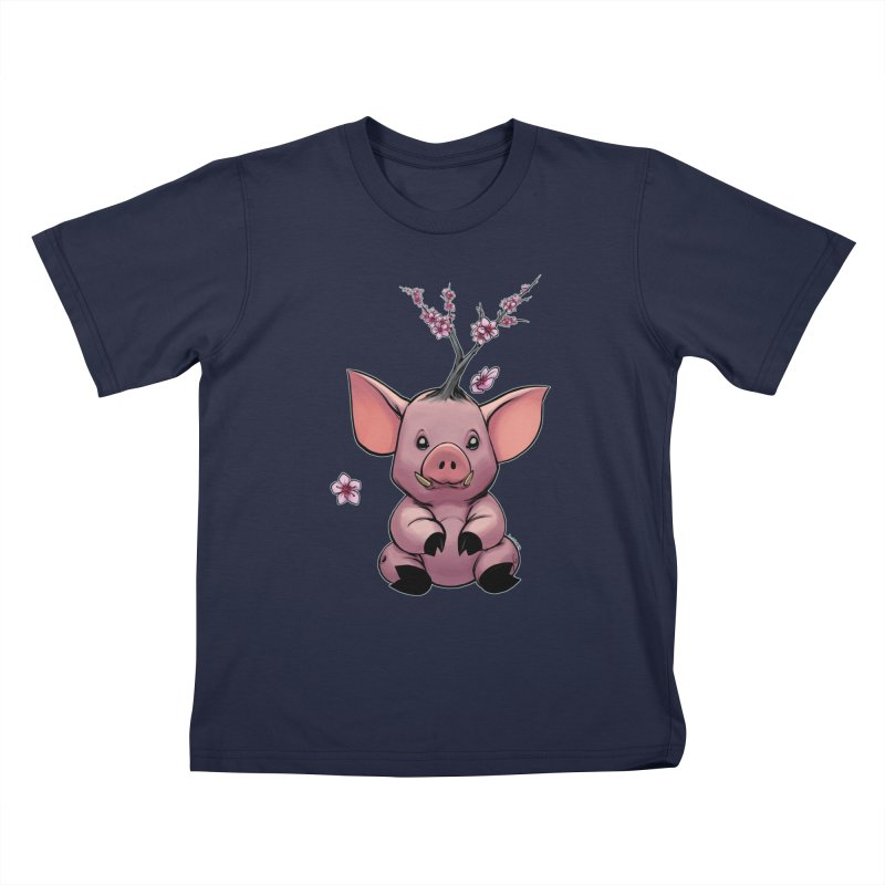 Lunar New Year 2019 Earth Pig Kids T-Shirt by weswongwithyou's Artist Shop